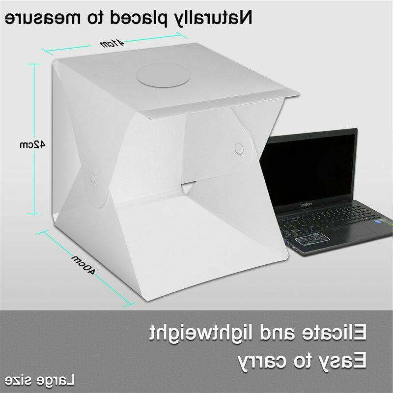 Double LED Light Box Lighting Tent Kit Backdrops