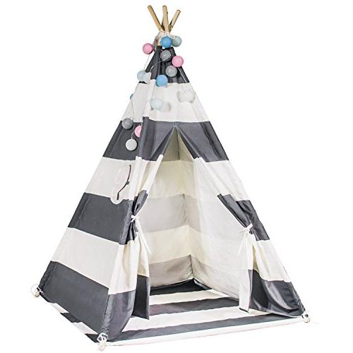 new concept 93685 24adc Touch-Rich 6FT Durable Teepee for Kids, Indian Play Tent, Sturdy & Safe  Kids' Furniture with Window & Floor, Including Style Matching Accessories