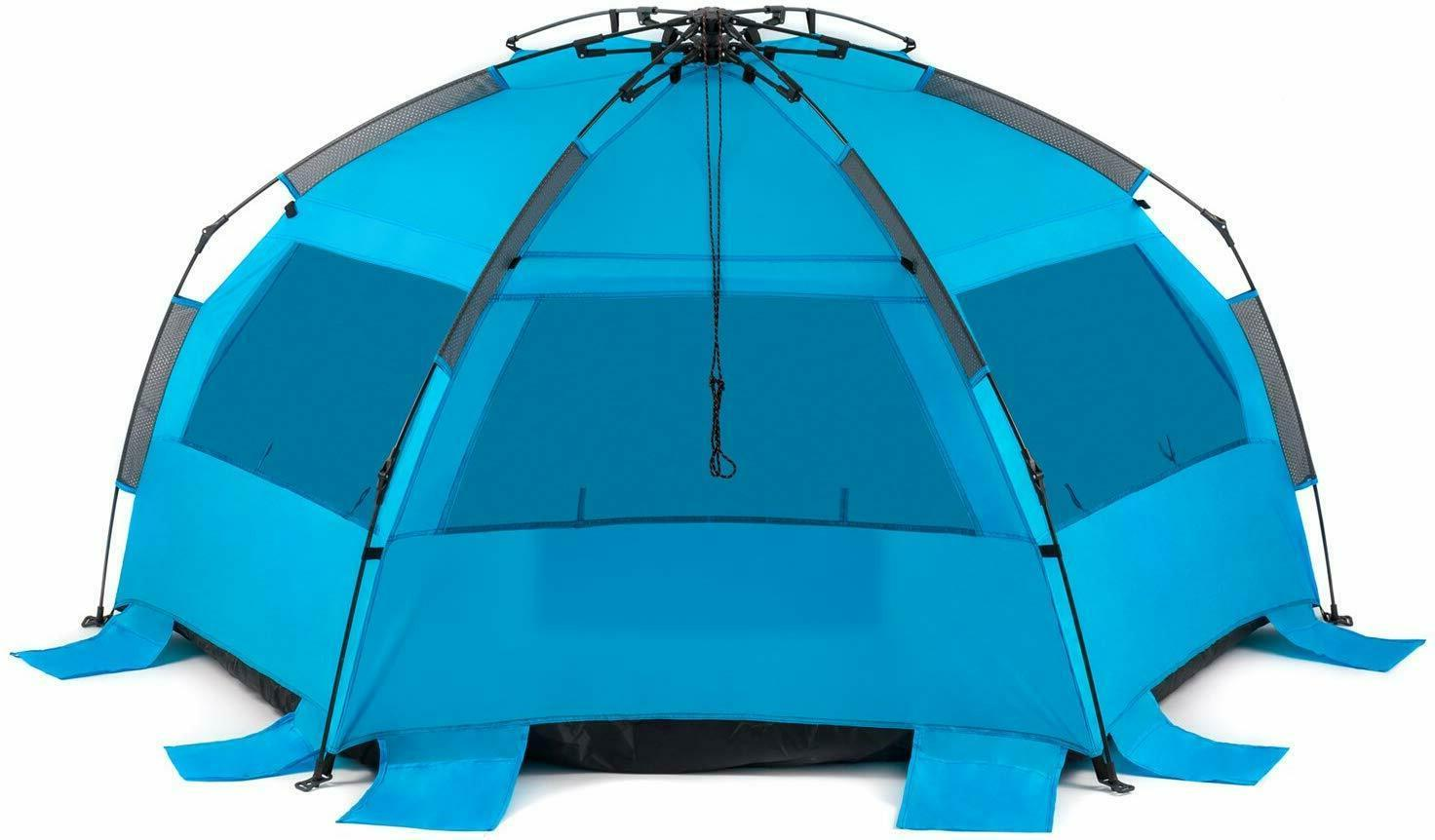 Easy Setup Beach Shelter UPF Protection
