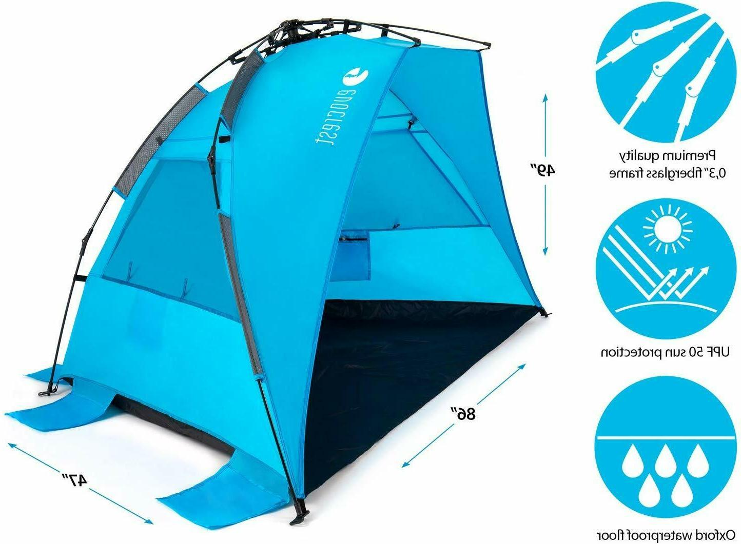 Easy Large Beach Shelter with UPF Protection
