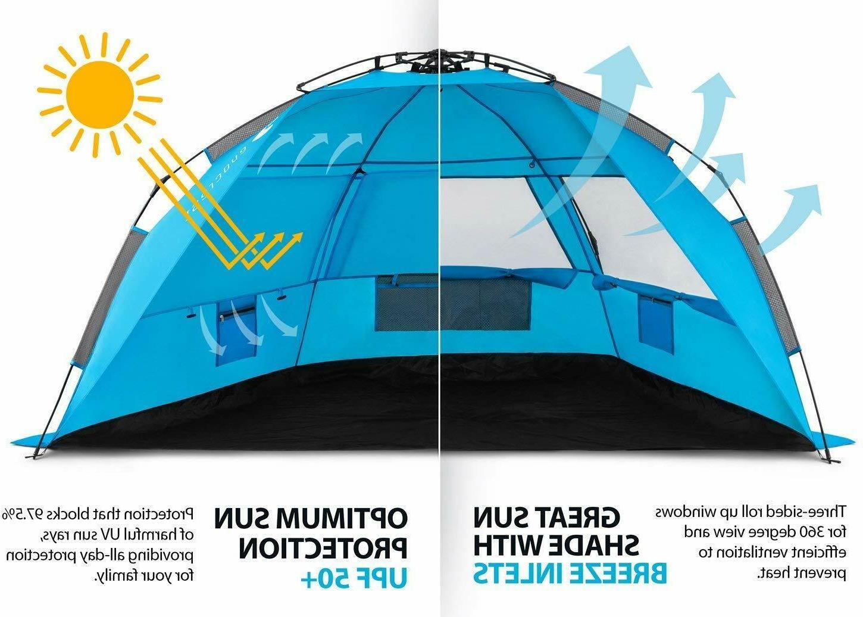 Easy Setup Large Cabana Shelter Protection Por
