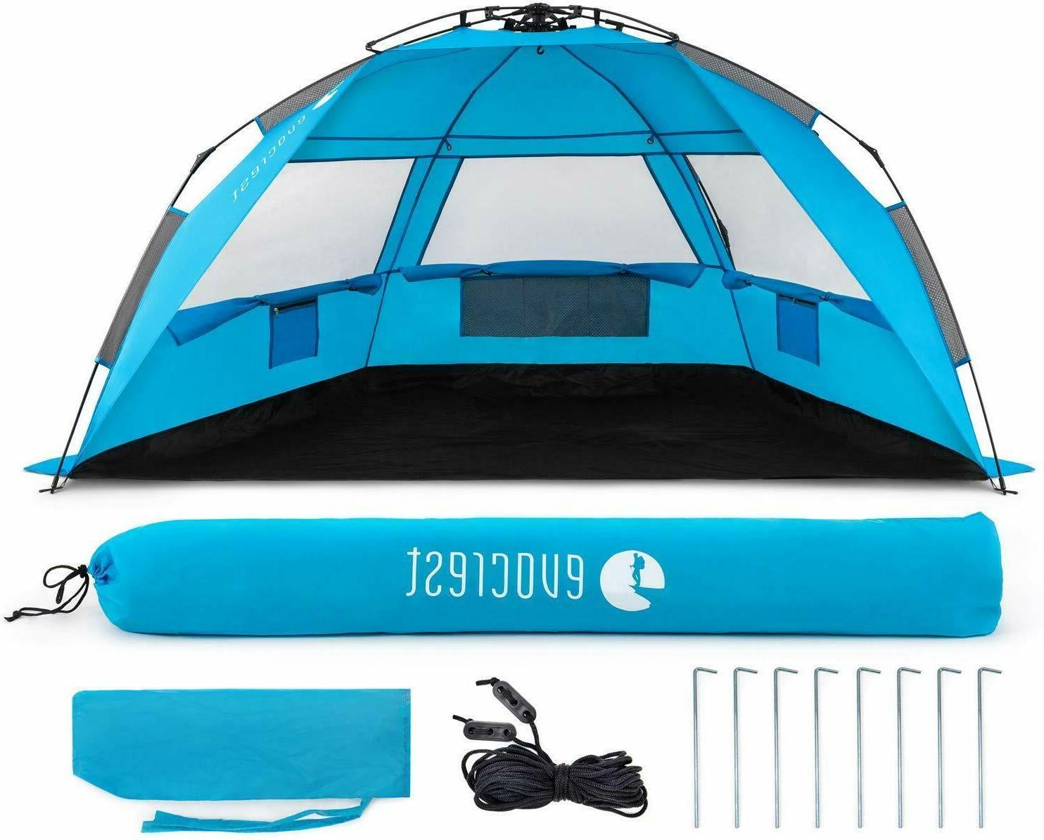 easy setup beach tent large beach cabana