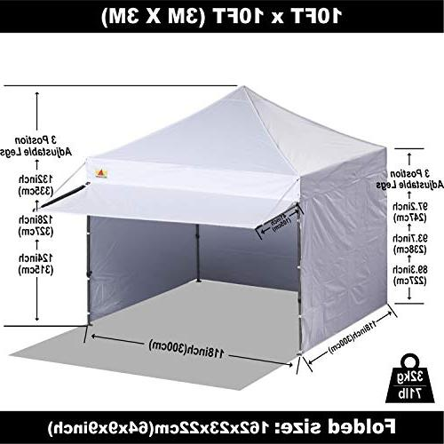 ABCCANOPY 10x10 EZ Pop up Canopy Tent Instant