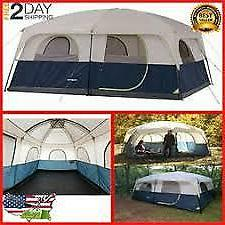Family Cabin Tent, Sleeps 10 Outdoors Hiking Sport Canopies