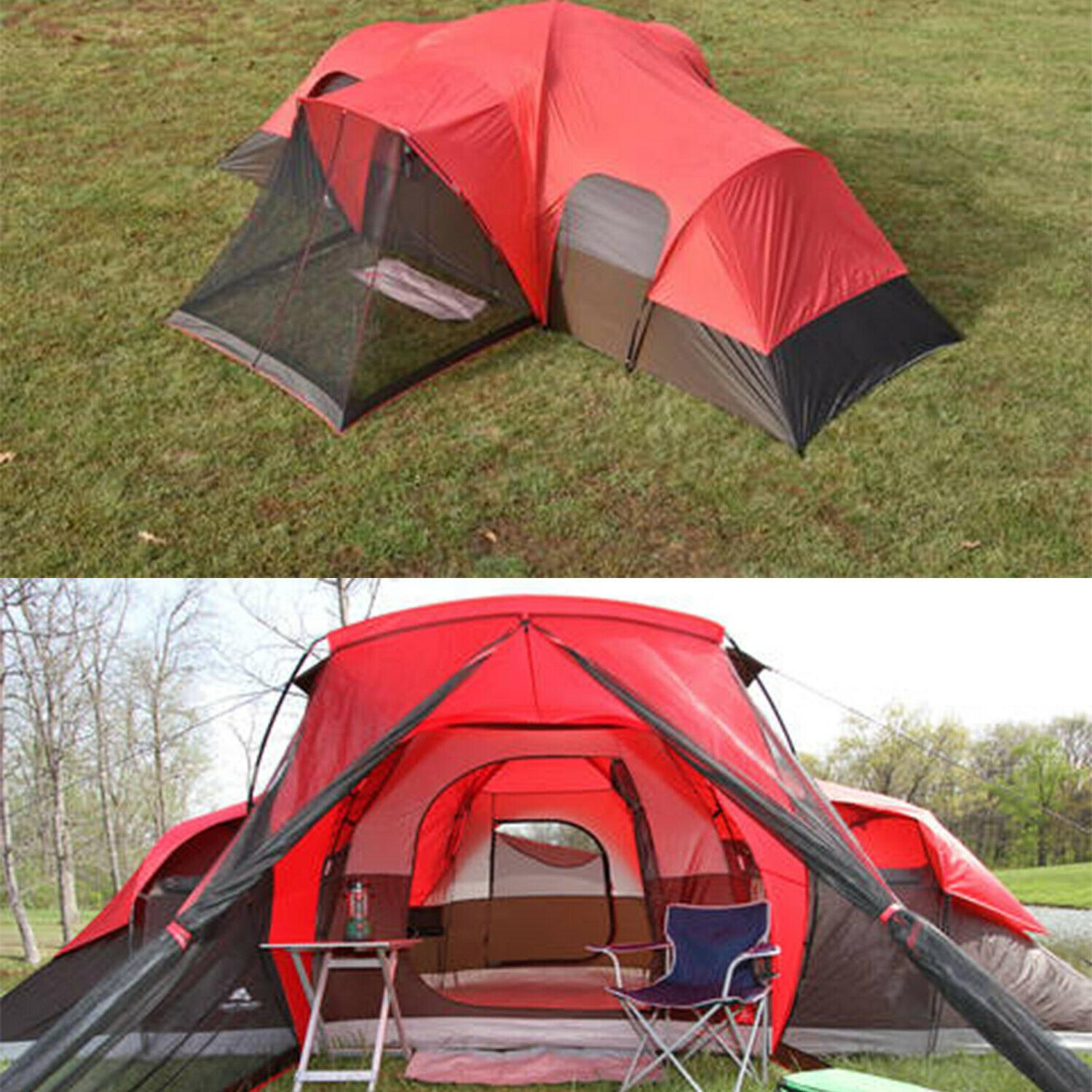 Family Camping Cabin Tent 10-Person Ozark Trail Outdoor