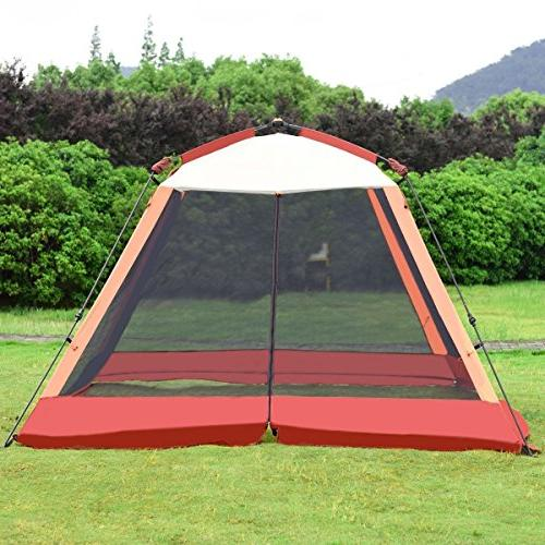family portable camping hiking tent