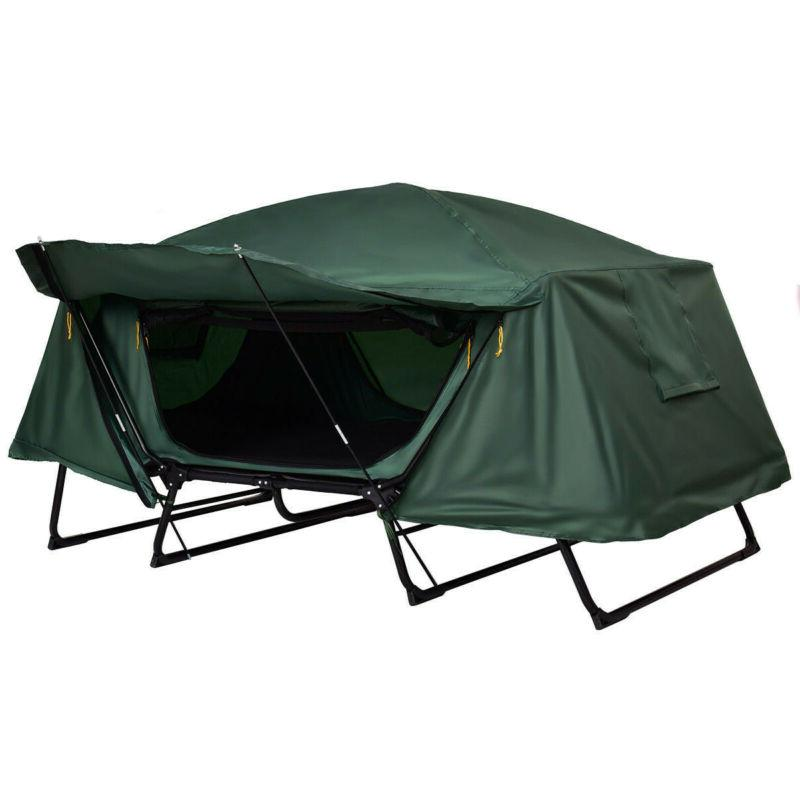 Folding Camping Tent Cot Waterproof Hiking w Carry Bag