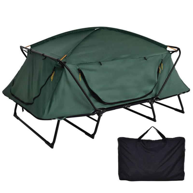 Folding 2 Person Camping Tent Cot Hiking w Bag
