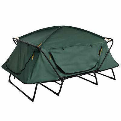 Folding Elevated Camping Hiking Outdoor w Carry Bag