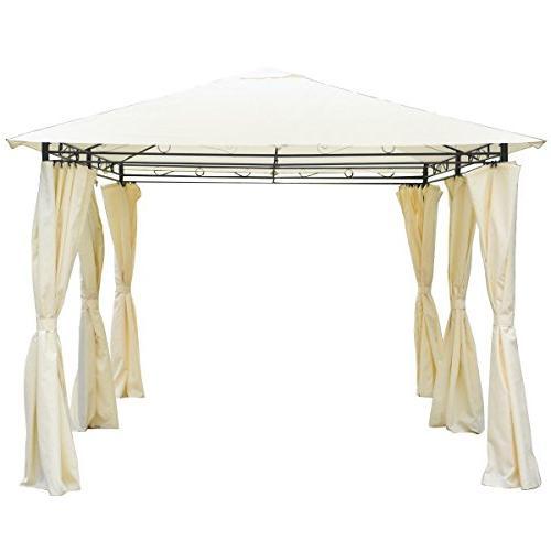 COSTWAY 13' x Gazebo Canopy Party Tent w/Side