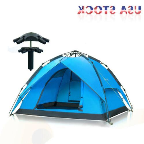 hydraulic self pop up double layer camping
