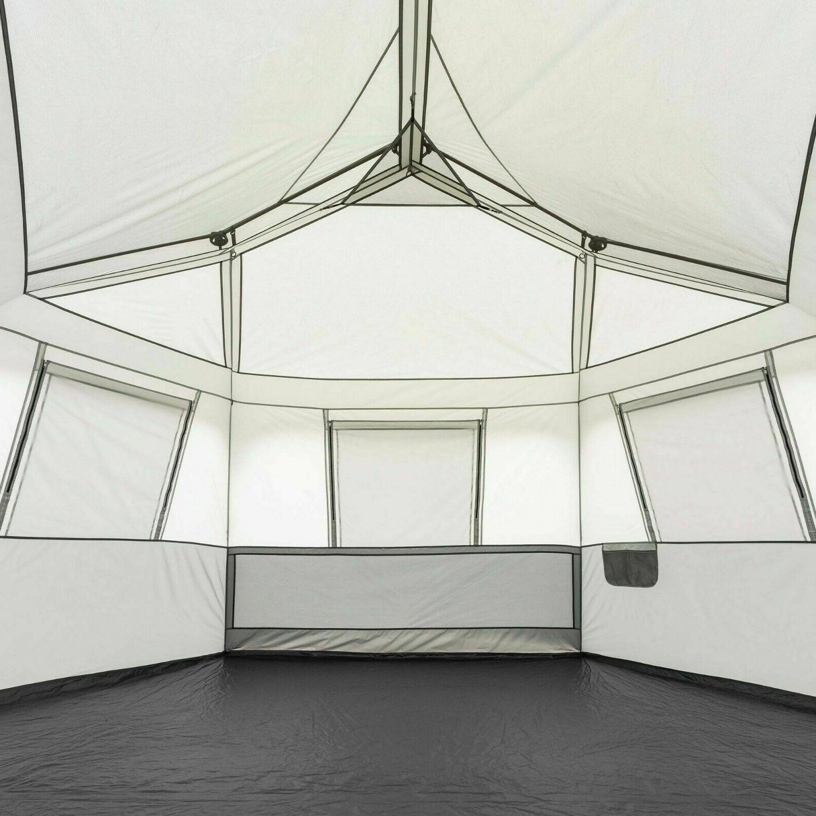 Instant Cabin Tent Set Pop Hexagon 8 Person