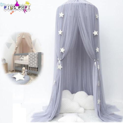 Kids Baby Bed Canopy Bedcover Mosquito Net Curtain Bedding Dome Decor