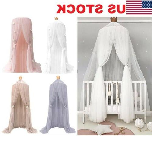 kids baby bed canopy bedcover mosquito net