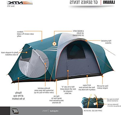NTK LARAMI up to 12.8FT 6.9FT Height, 3 Camping 100% Waterproof Best Deluxe Extra Color-Coded Assembly.