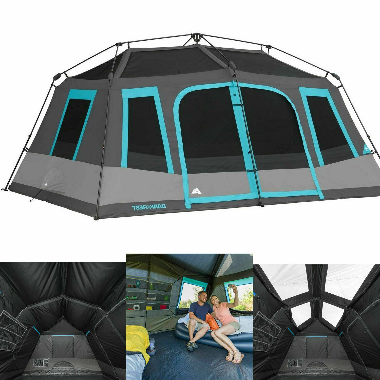 LARGE 10-PERSON INSTANT Cabin Tent Dark Rest Blackout Window