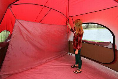 10-Person Family Tent Large Outdoor 2-Room Divider Screen
