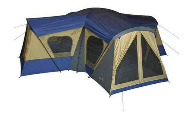 Large Outdoor Camping Tent 14-Person 4-Room Big Camp
