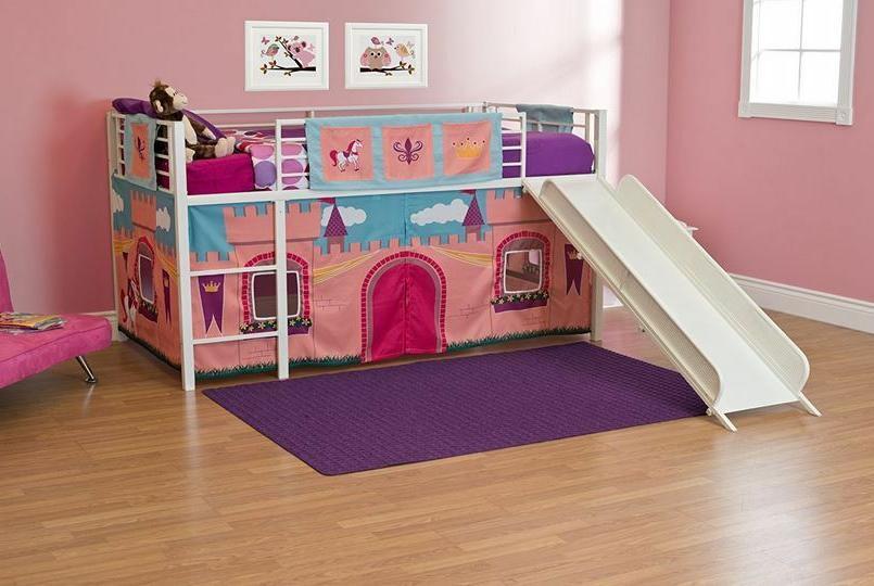 loft beds for girls pink tent princess