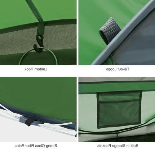 5-Person Pop-Up Tent Camping Shelter US