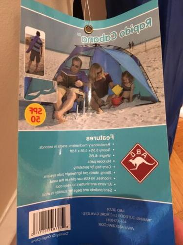 New! Cabana. Shelter. Pop Up Sun Tent