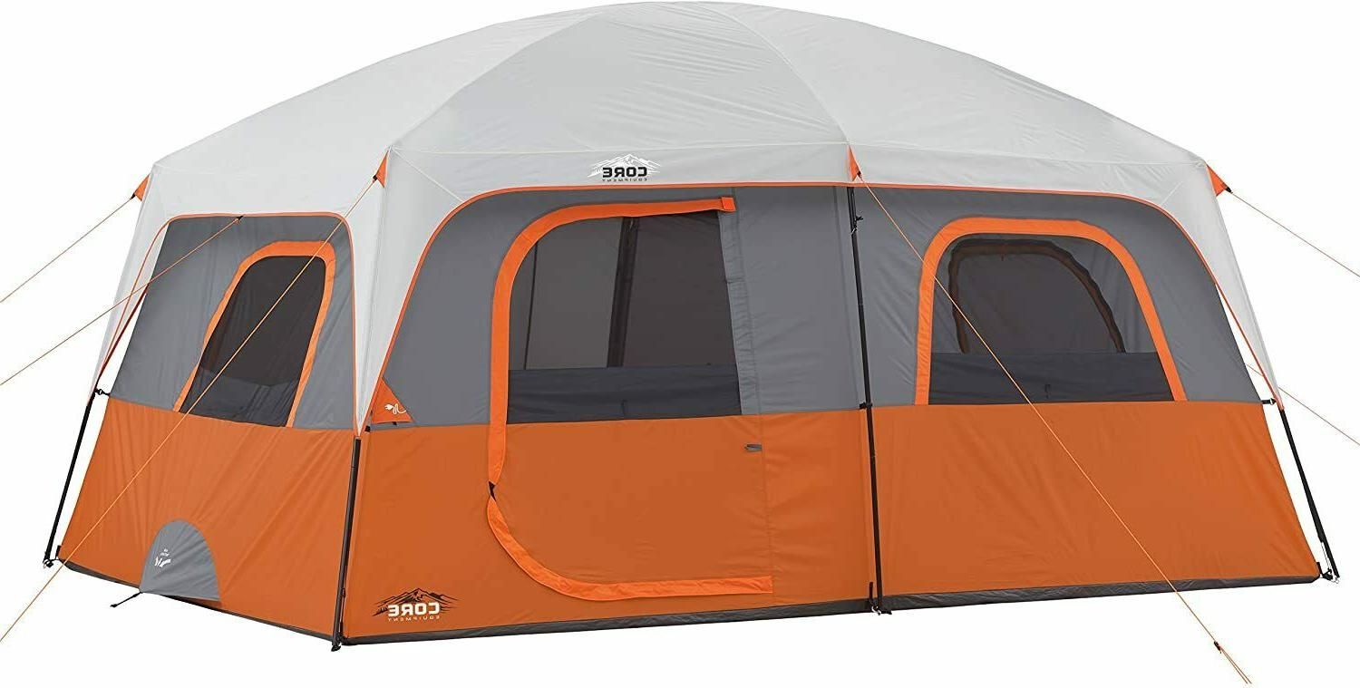 Nice Tent Camping Core 10 Person Water Resistant 2 Rooms 14'