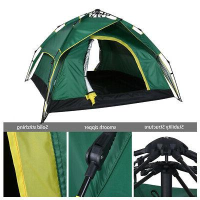 outdoor camping waterproof 4 person folding tent