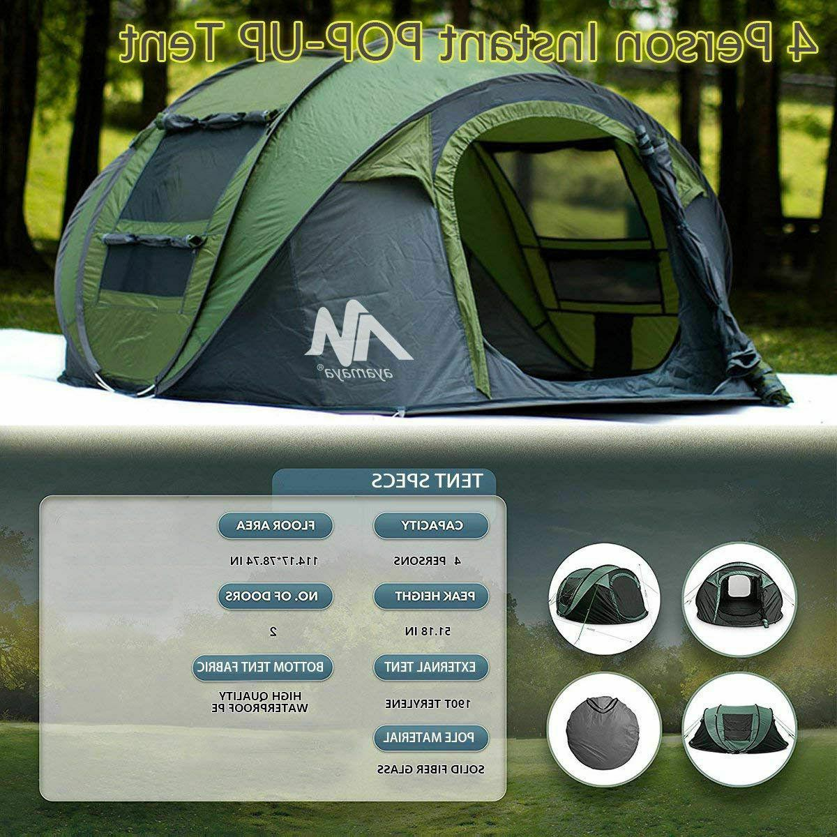 Outdoor Camping Dome Instant Automatic Waterproof
