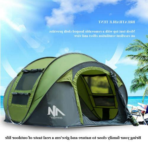 Outdoor Hammock+4 Camping Tent Dome Automatic