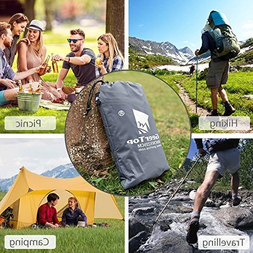 Geertop Fabric Men Footprint Tent Waterproof for Camping Hiking Picnic Fishing