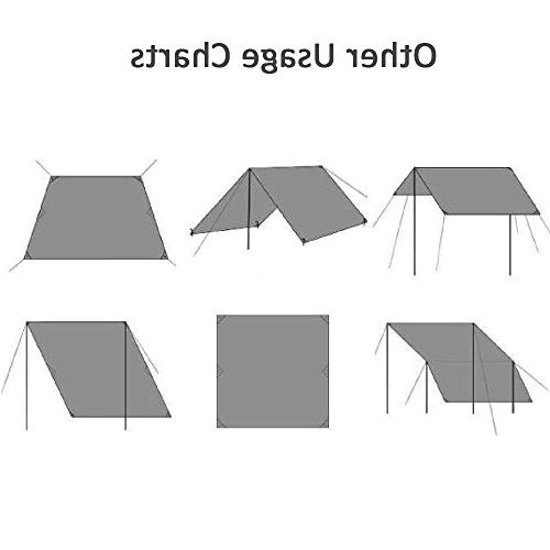 Geertop Men Ground Tent Tarp Picnic