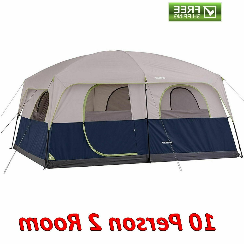 ozark 10 person 2 room cabin tent
