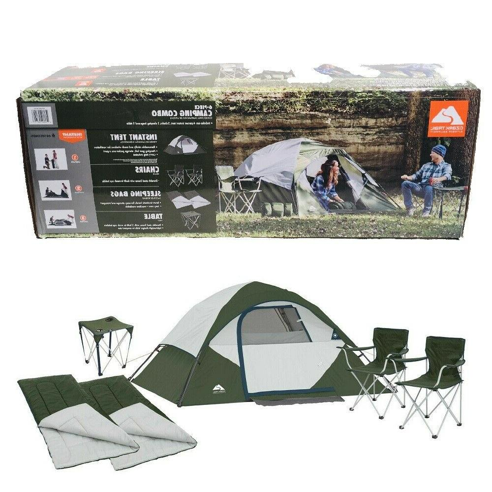 ozark 6 piece camping combo 4 person