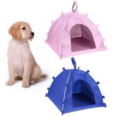 US Portable Folding Dog Pet House Bed Tent Waterproof Cat In