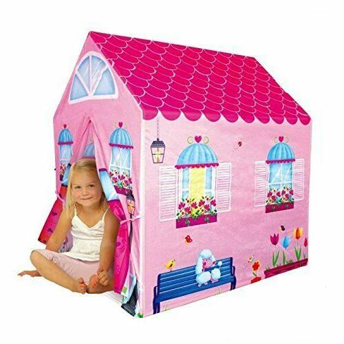 Cottage Playhouse Girl City House Kids Secret Garden Pink Pl