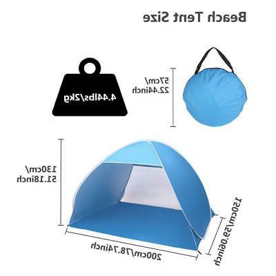 Pop Up Beach Tent Sun Shelter Shade Easy Up Portable Anti UV