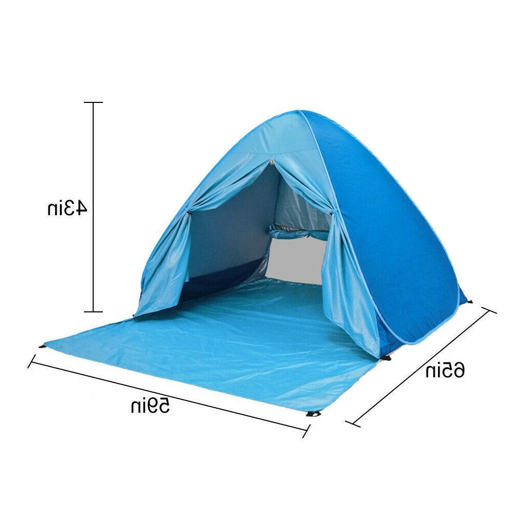 Pop Up Beach Tent Sun Shelter Shade Easy