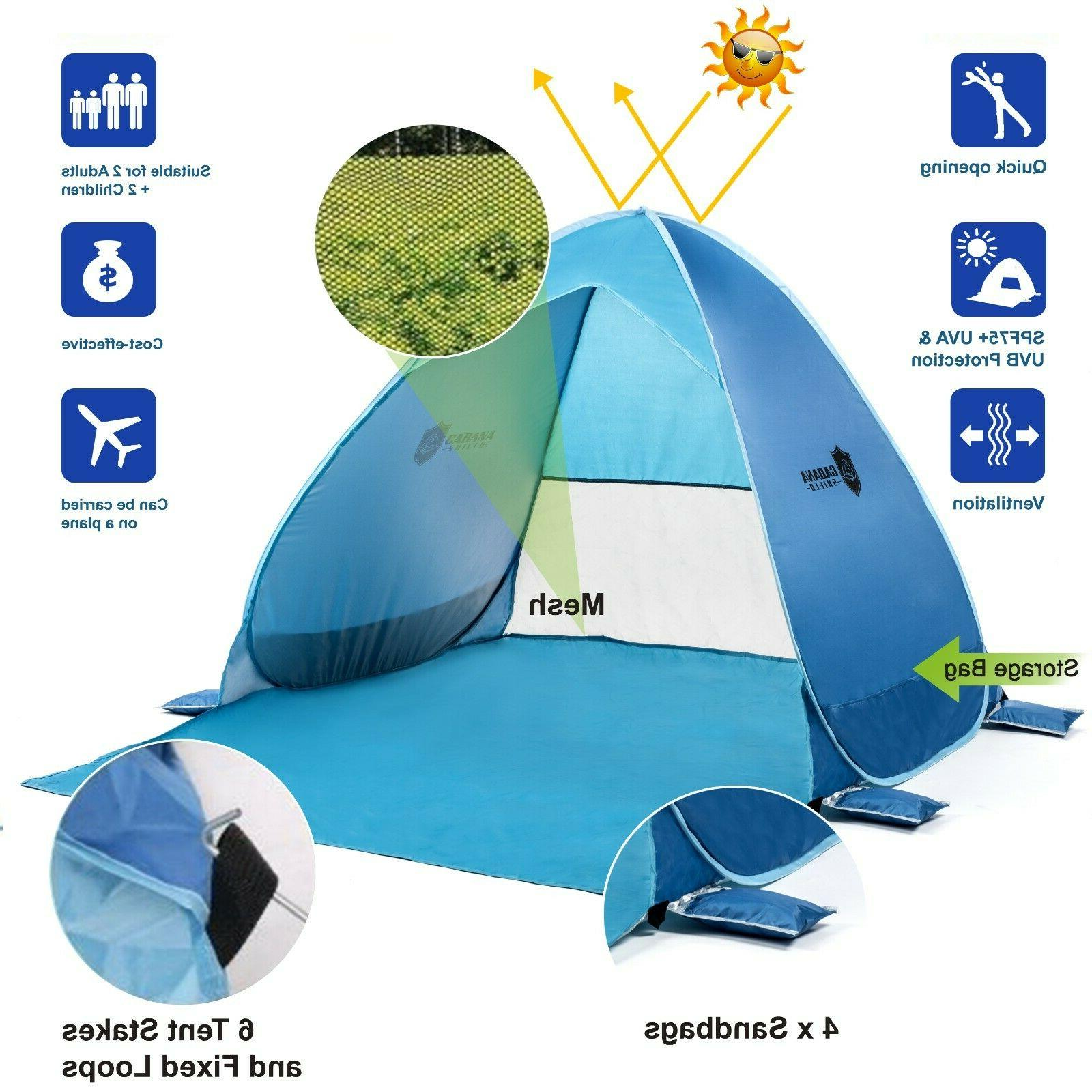 pop up beach tent with uv protection