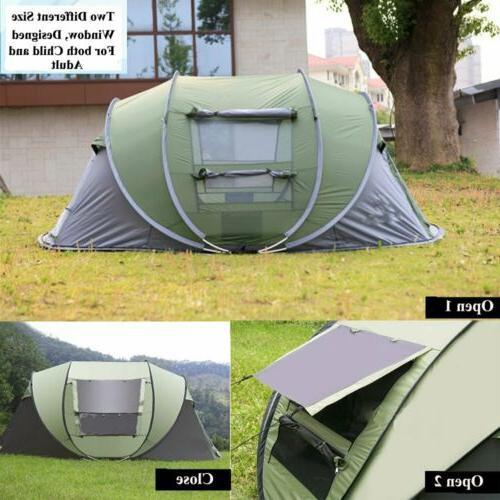 4 Tent Instant Pop Up Waterproof Blue