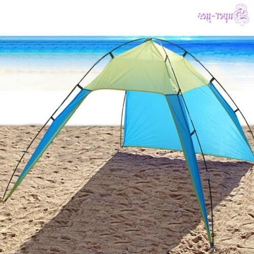 Beach Canopy Sun Shade Triangle Patchwork Tent Shelter Campi
