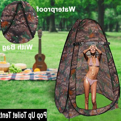portable pop up tent camping toilet shower