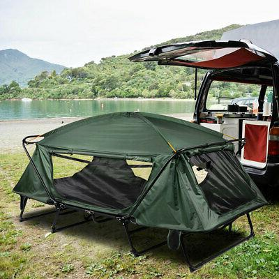 Double Camping Tent Cot Folding Portable Waterproof Hiking B