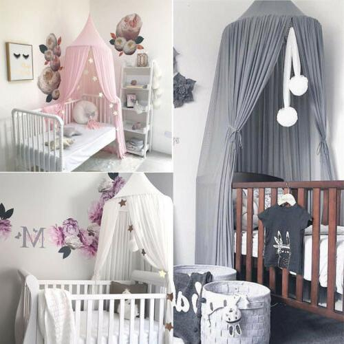Princess Round Dome Baby Kids Mosquito Net Toddler Bed Crib