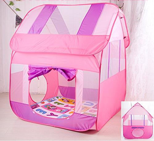 """Aubeco Pink Pop-up Play Portable House Tent, 47.2""""X 51.2"""""""