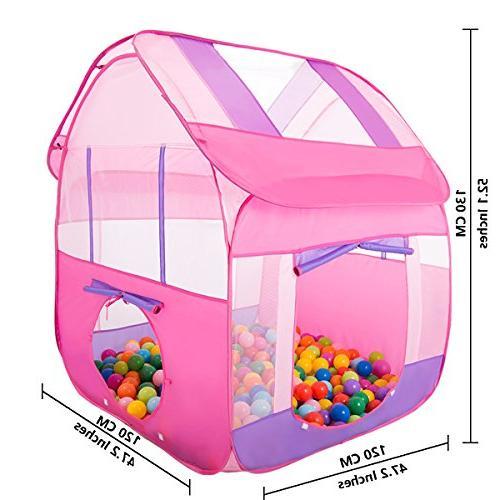 "Aubeco Princess Pink Play Portable Play 47.2""X 47.2""X 51.2"""