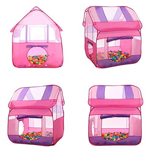 """Aubeco Pink Pop-up Play Tent Children Portable Play House 47.2""""X 47.2""""X"""