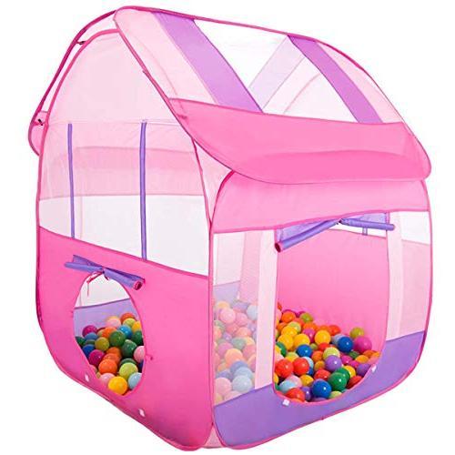 princess pink pop play tent