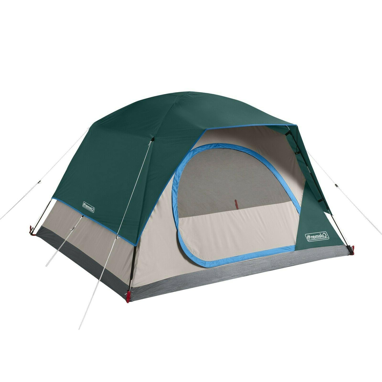 Coleman Skydome Camping 4-Person Tent - Green
