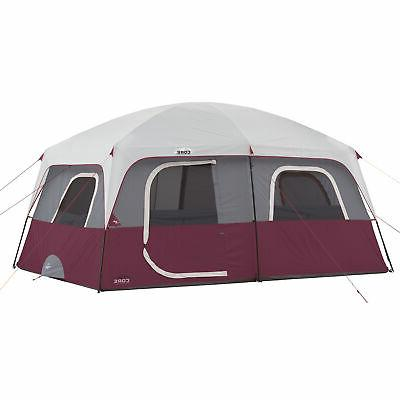 CORE Straight Wall 14 x 10 Foot 10 Person Cabin Tent with 2