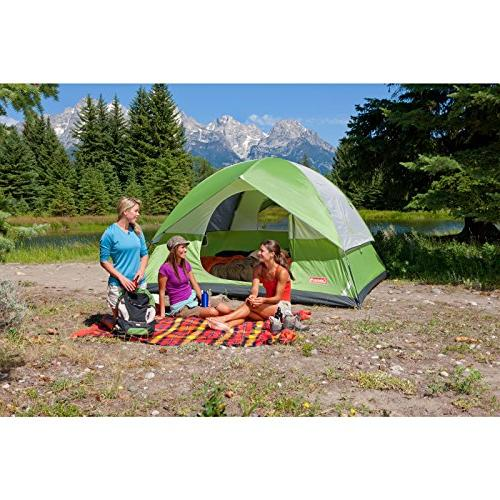 Coleman 6-Person Tent for Tent with Setup